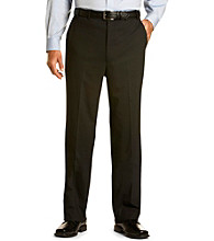Synrgy™ Men's Big & Tall Black Flat-Front Suit Pants