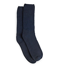 Men's Big & Tall Extra-Wide Diabetic Support Crew Socks