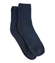 Men's Big & Tall Extra-Wide Diabetic Support Quarter-Top Socks