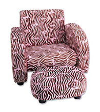 Trend Lab Mod Chair- Pink Zebra