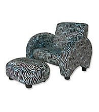 Trend Lab Mod Chair- Blue Zebra