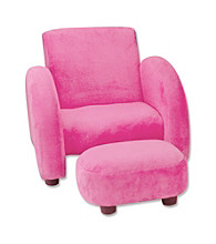 Trend Lab Mod Chair - Solid Fuchsia Velour