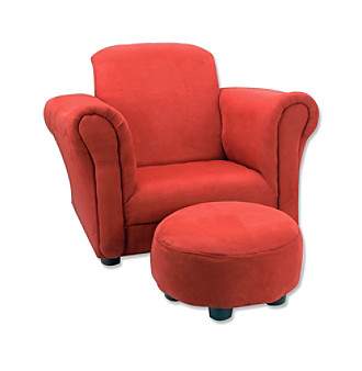 Trend lab Club Chair - Red Ultrasuede