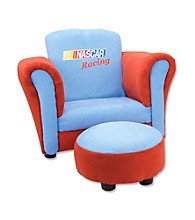 Trend Lab Club Chair - Nascar® Red And Blue Ultrasuede