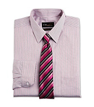 Gold Series® Men's Big & Tall Rose Wrinkle-Free Cool & Dry Stripe Dress Shirt