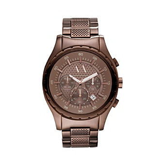 A|X Armani Exchange Men's Brown-Plated Stainless Steel Watch