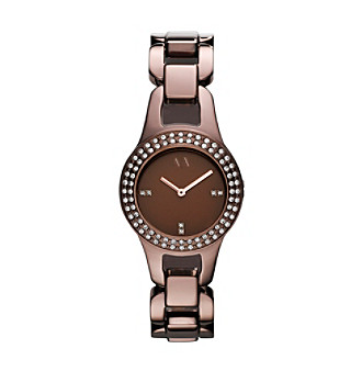 A|X Armani Exchange Ladies' Brown-Plated Stainless Steel Watch