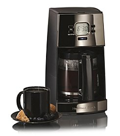 Hamilton Beach® Black Ice™ Metal Collection 12-Cup Digital Coffeemaker with Drip-Free Carafe