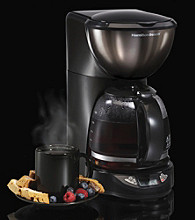 Hamilton Beach® Black Ice™ Metal Collection 12-Cup Digital Coffeemaker with Cone Filter