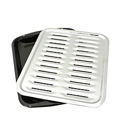 Range Kleen 2-pc. Porcelain and Chrome Broiler Pan