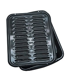 Range Kleen 2-pc. Black Porcelain Broiler Pan with Grill