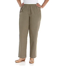 Breckenridge® Plus Size Twill Pull-On Pants