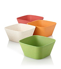 Eco Life™ Set of 4 Multicolored Square Bowls
