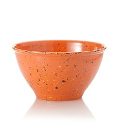 Rachael Ray® Orange Melamine Garbage Bowl with Rubber Foot