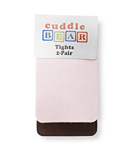 Cuddle Bear® Baby Girls' Pink/Brown 2-pk. Tights