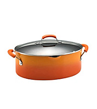 Rachael Ray® 8-qt. Two-Tone Orange Covered Oval Pasta Pot