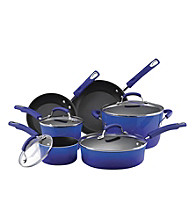Rachael Ray® Porcelain II Two-Tone Blue 10-pc. Cookware Set