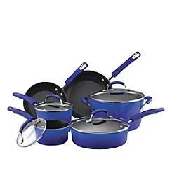 Rachael Ray® 10-pc. Blue Porcelain Hard Enamel II Cookware Set