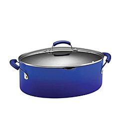 Rachael Ray® 8-qt. Two-Tone Blue Covered Oval Pasta Pot