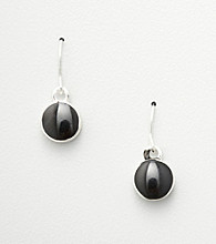 Studio Works® Black Circle Drop Earrings