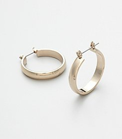 Studio Works® Large Goldtone Hoop Earrings
