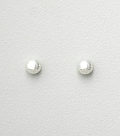 Studio Works® 4mm Silvertone Stud Earrings