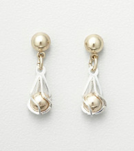 Studio Works® Two Tone Ball Drop Earrings