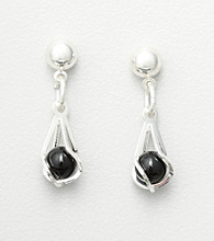Studio Works® Black Ball Drop Earrings