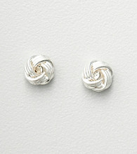 Studio Works® Silvertone Wreath Earrings