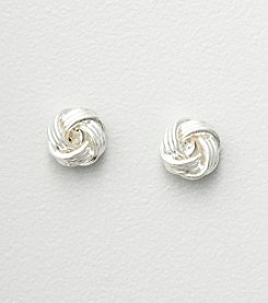 Studio Works® Silvertone Love Knot Earrings