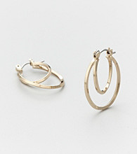Studio Works® Goldtone Curved Oval Hoop Earrings
