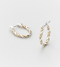 Studio Works® Two Tone Braided Hoop Earrings