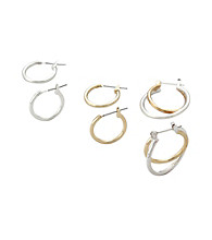 Studio Works® Multi Hoop Earring Set