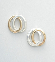 Studio Works® Two Tone Interlocking Stud Earrings