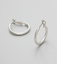 Studio Works® Medium Silvertone Hoop Earrings