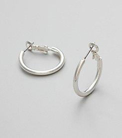 Studio Works® Medium Silvertone Hoop Earrings
