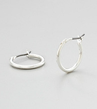Studio Works® Mini-Silvertone Hoop Earrings
