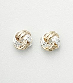 Studio Works® Two Tone Love Knot Stud Earrings