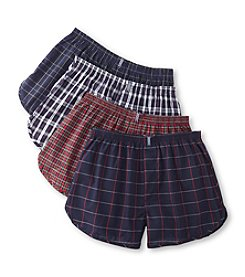 Jockey® Classic Men's Plaid 4-Pack Tapered Boxers - Assorted