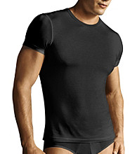 Calvin Klein Men's Black Micro Model Crew Tee