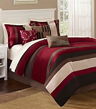 Boulder Stripe Red 7-pc. Comforter Set by Madison Park™