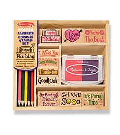 Melissa & Doug® Favorite Phrases Stamp Set