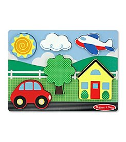Melissa & Doug® Chunky Scene Yellow House