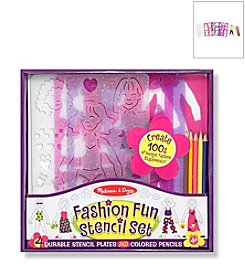 Melissa & Doug® Fashion Fun Stencil Set