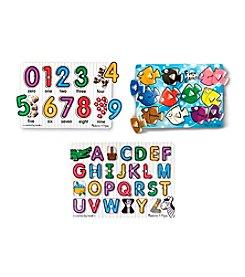 Melissa & Doug® Classic Peg Puzzle Bundle