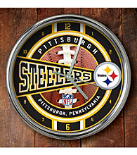 The Memory Company® Pittsburgh Steelers Chrome Clock