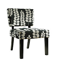 Powell® Black & Cream Floral Oliver Accent Chair