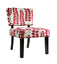 Powell® Red & Cream Floral Oliver Accent Chair