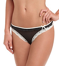 DKNY® Black/White Fancy Frill Thong