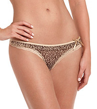 DKNY ® Tan/Leopard Fancy Frill Thong